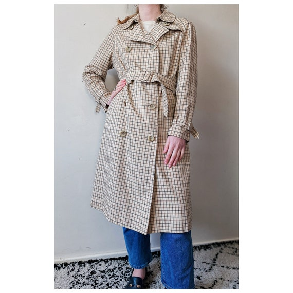 Vintage Aquascutum check trench coat