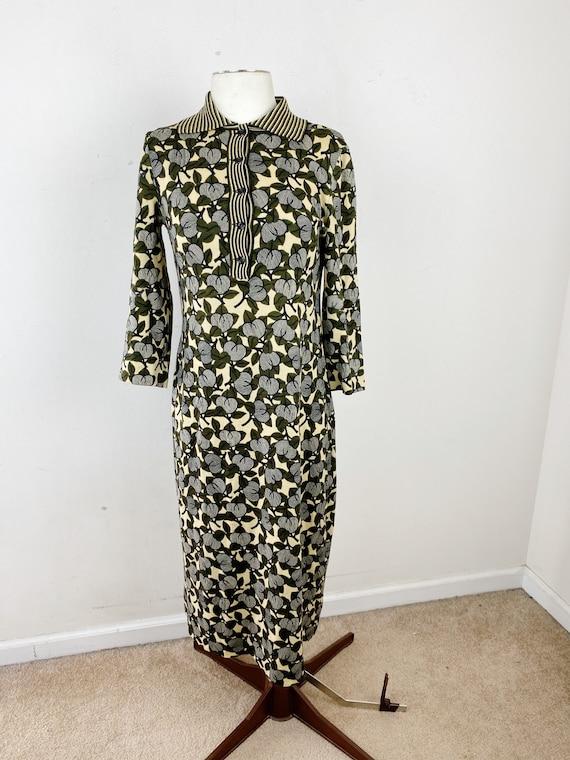 Vintage 70s Goldworm Wool Dress Size 10
