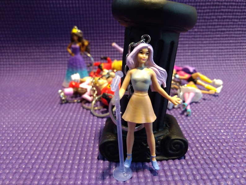 Barbie Singer  Keychain  Key Ring  Key Chain  Keys