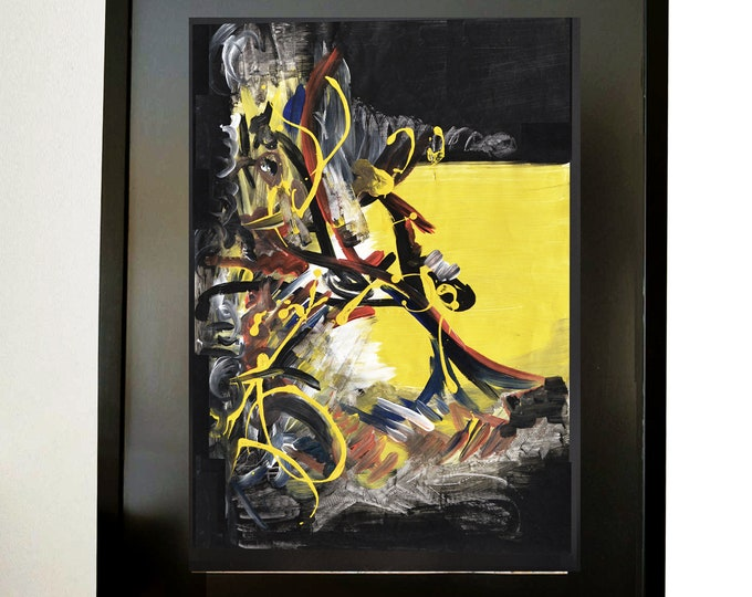 XYRIS-LIBERTY, Painting Handmade Acrylic Abstraction, Contemporary Freedom Art.
