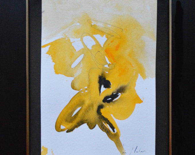 XILOBIUM. Essence of the yellow explosion, Artistic Painting, Abstraction and Unique Handmade.