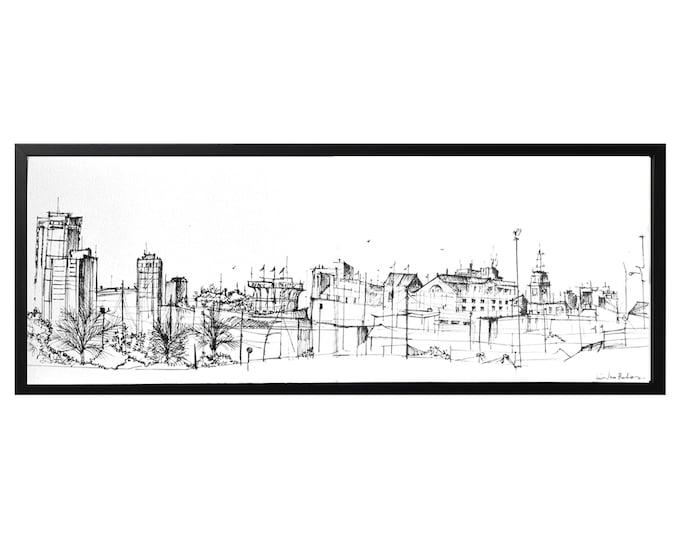 O PARROTE. Handrawing, A Coruña, Galicia, Spain, Original Vol-4, Architectural Sketch, Architecture Cityscape, Art,(Framed Clips version)