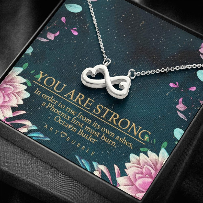 Sympathy Gift Necklace Sick Friend Gift Illness Cancer Chemo Sickness Encouragement Jewelry 14k Gold Sterling Silver Free Gift Box