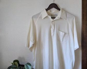 VINTAGE CERRUTI 1881 SHIRT  Creamoff white with sportswear collar  Size S-M 8-10-12