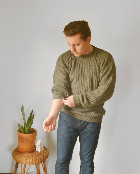 Vintage Pull-over Ribbed Sweater Northcrest 1980s