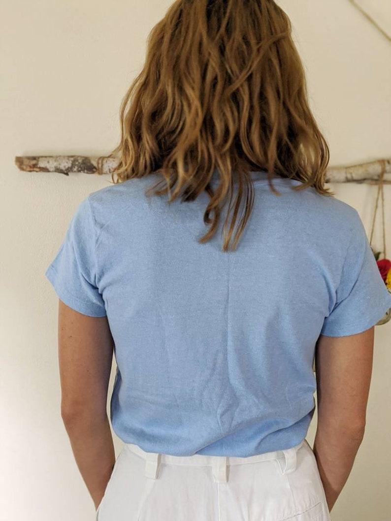Cop Police blue t-shirt 1980s Vintage Super Soft Blue Graphic Tee Shirt Hanes