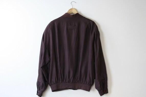 90s silk bomber jacket/oversized/unisex/brown bur… - image 7