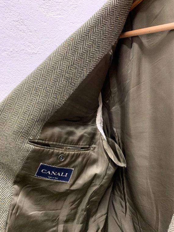 Vintage Canali Cashmere Blazer/Loro Piana/Green/O… - image 9