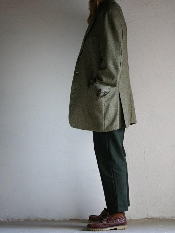 Vintage Canali Cashmere Blazer/Loro Piana/Green/O… - image 6