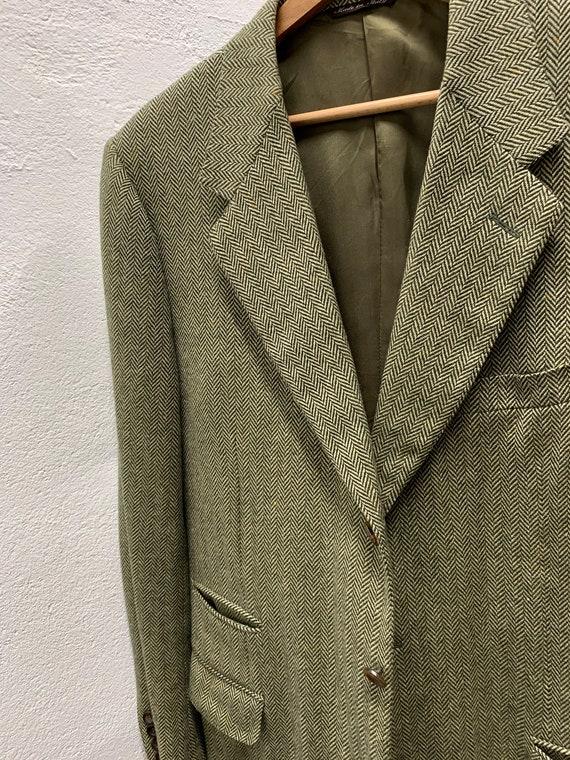 Vintage Canali Cashmere Blazer/Loro Piana/Green/O… - image 8