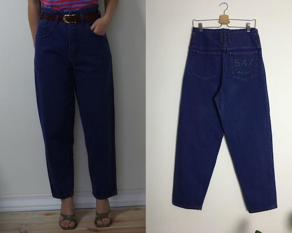 90s high waist jeans violet blue vintage MOM