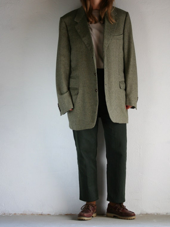 Vintage Canali Cashmere Blazer/Loro Piana/Green/O… - image 2