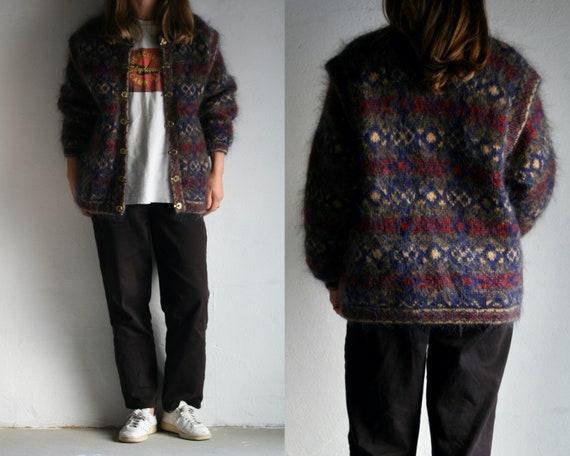 vintage mohair wool cardigan jacket