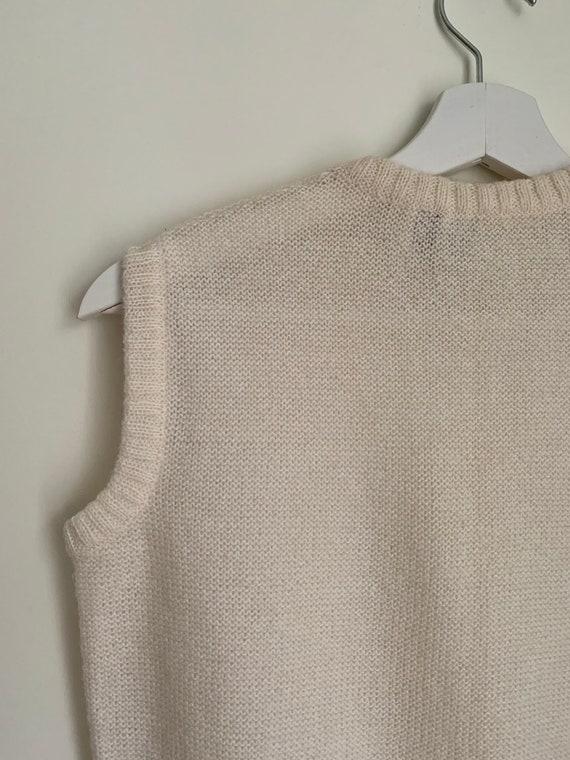 Kid Mohair Vest Top White/Vintage - image 6