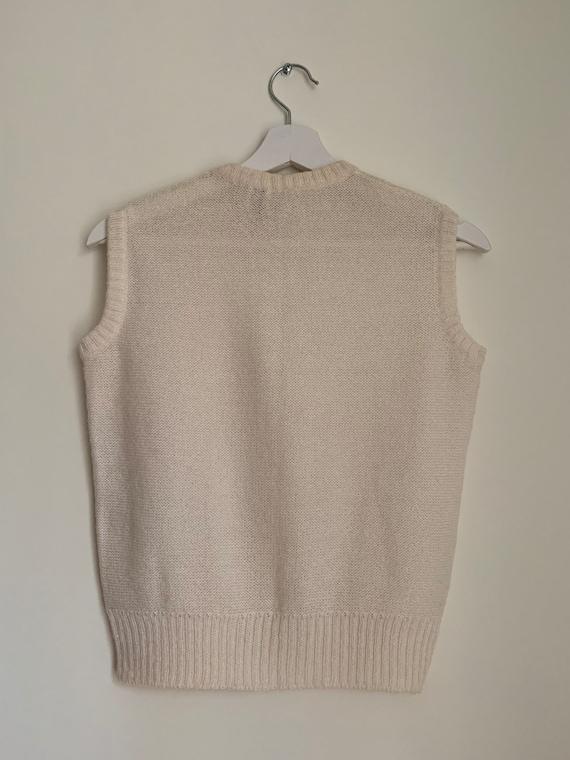 Kid Mohair Vest Top White/Vintage - image 5