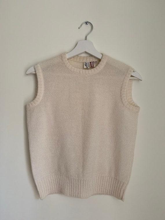 Kid Mohair Vest Top White/Vintage - image 3