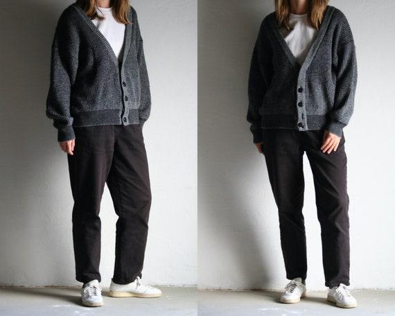 90s winter cardigan gray/oversized