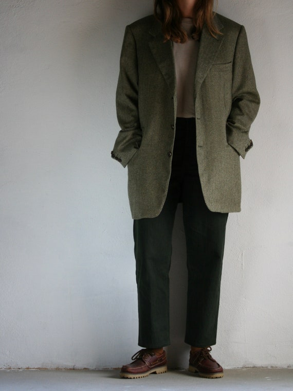 Vintage Canali Cashmere Blazer/Loro Piana/Green/O… - image 7
