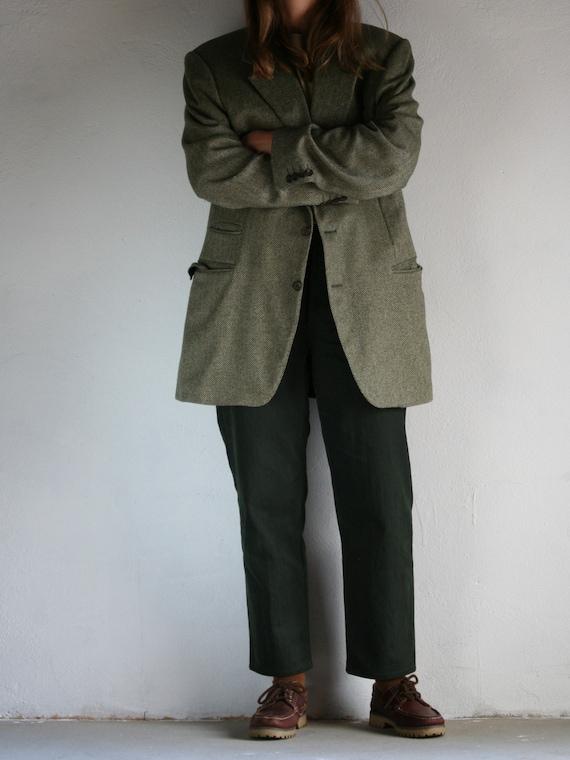 Vintage Canali Cashmere Blazer/Loro Piana/Green/O… - image 5