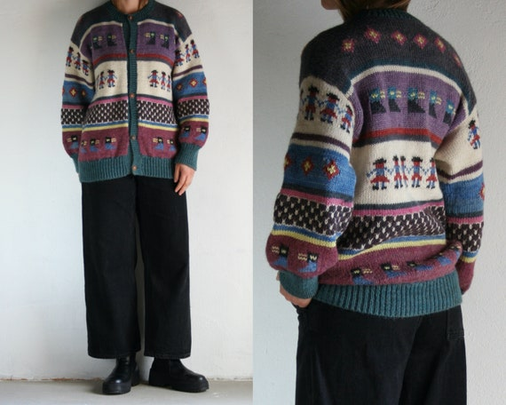 vintage novelty cardigan wool/women
