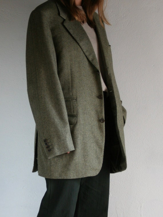 Vintage Canali Cashmere Blazer/Loro Piana/Green/O… - image 3