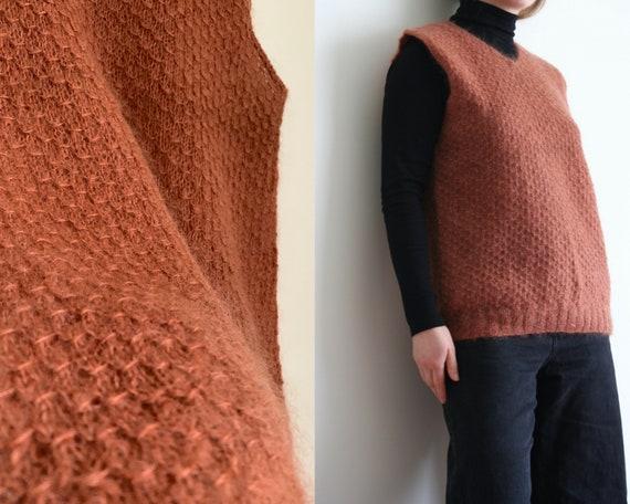 Orange Mohair Vest Top/Vintage
