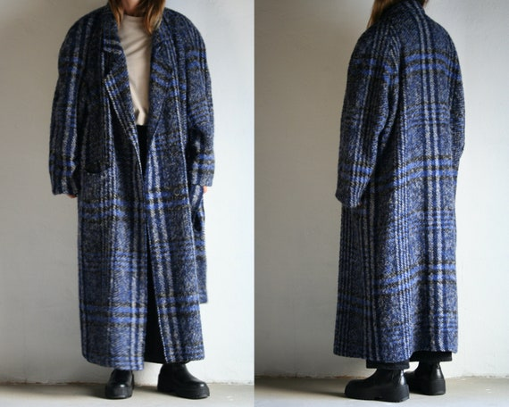 Oversized Maxi Coat Wool/Double-Breasted/Wool Chec