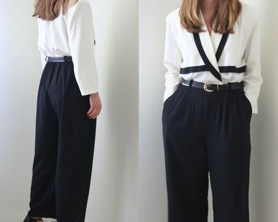 vintage overalls | jumpsuit black white women | Ca