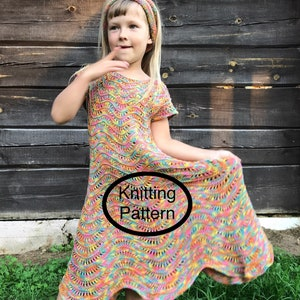 PDF KNITTING pattern only.Women lacy dress hand knitted knitted top down.Easy to follow chart and instructions. Seamless