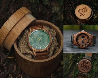 Wooden watch,Mens watch,Wood watch men,Personalized watch,Engraved watch,Wooden watches for men