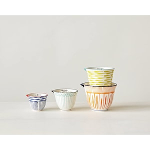 Vintage Ceramic Measuring Cups Country Decor Strawberry Retro Decor