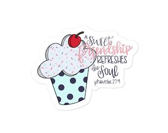 Sweet Friendship Sticker   Christian   Proverbs