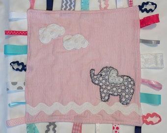 Tootle Loopies   loopy blanket   baby gift   handmade lovey  
