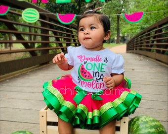 Watermelon Shirt Watermelon Girls Eleanor Outfit Watermelon Girl Outfit Personalized watermelon Outfit Embroidered watermelon Dress