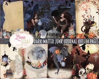 Dark Matter - Witch Junk Journal Digital Kit Printable, Magic Collage Sheets, Digital Junk Journal