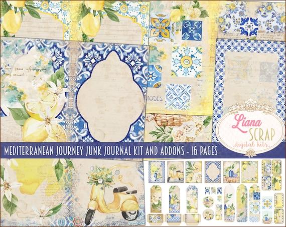 Shades of Summer/' vintage botanical digital journal kit