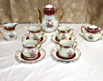 Sun Pottery Demitasse Tea Coffee Cocoa Set - 13 pieces - Set of 4