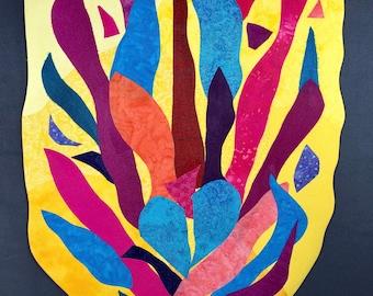 Enlightened - Textured Fiber Painting, Abstract Art, Fiber Art, Wall Hanging