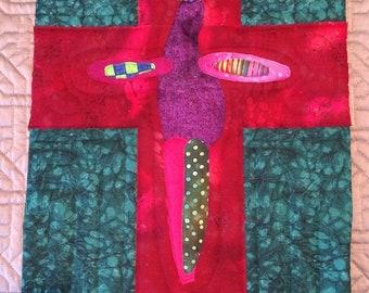 Resurrection - Textured Fiber Painting, Abstract Art, Fiber Art, Wall Hanging