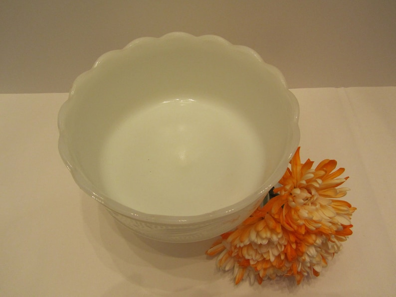 For the Minimalist Lovely Milk Glass Footed BowlPlanter