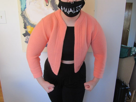 Gorgeous Little Peach Colored Knit Bolero
