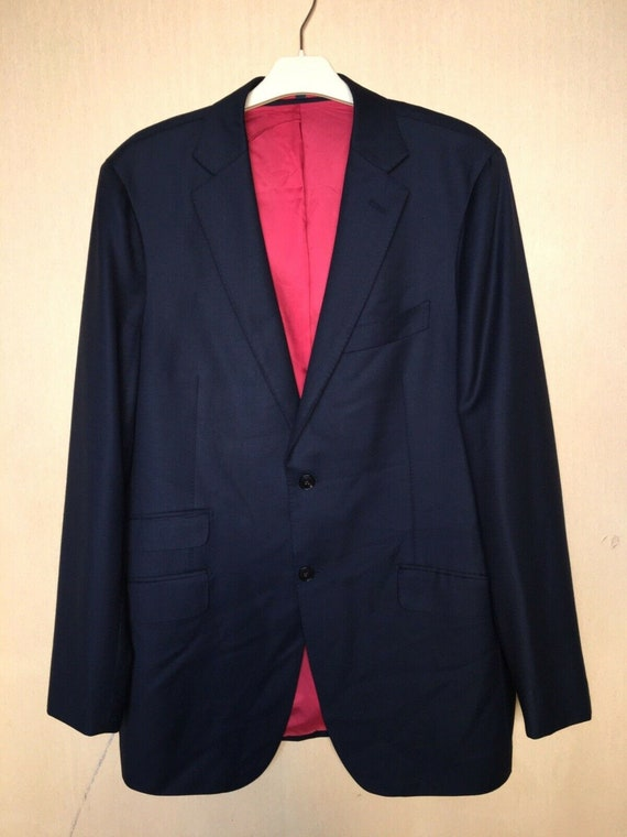 Suit Supply Mens Wool Two Button Blazer Gray Size