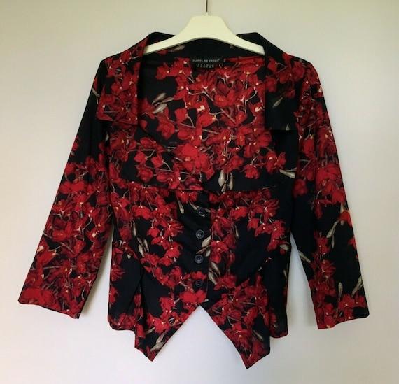 Isabel De Pedro Cotton Collared Floral T-Shirt Dre