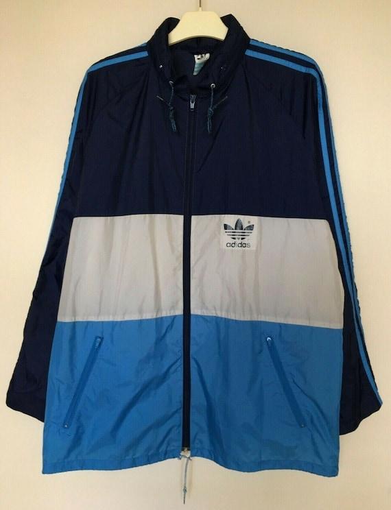 Adidas Vintage Jacket Track top Nylon Raincoat