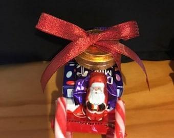 Christmas Chocolate Santa Sleigh