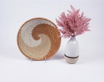 African Basket  Wall Hanging Basket Woven Basket  Basket Storage Accent Fruit Bowl  Handmade Wall Decor Care Package Gift Set Basket