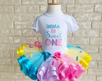 Sweet One Birthday Tutu, Donut Birthday Outfit, Donut Birthday Tutu,