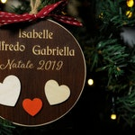 Family Christmas Ball, Personalized Gift, Addobi for Christmas Tree, First Christmas Ball, Christmas Decoration with Names