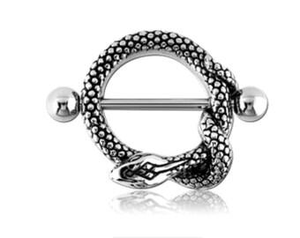 2pcs Snake Nipple Ring Shields Sexy Piercing Nipple Bars Body Barbell 316L Jewelry UK