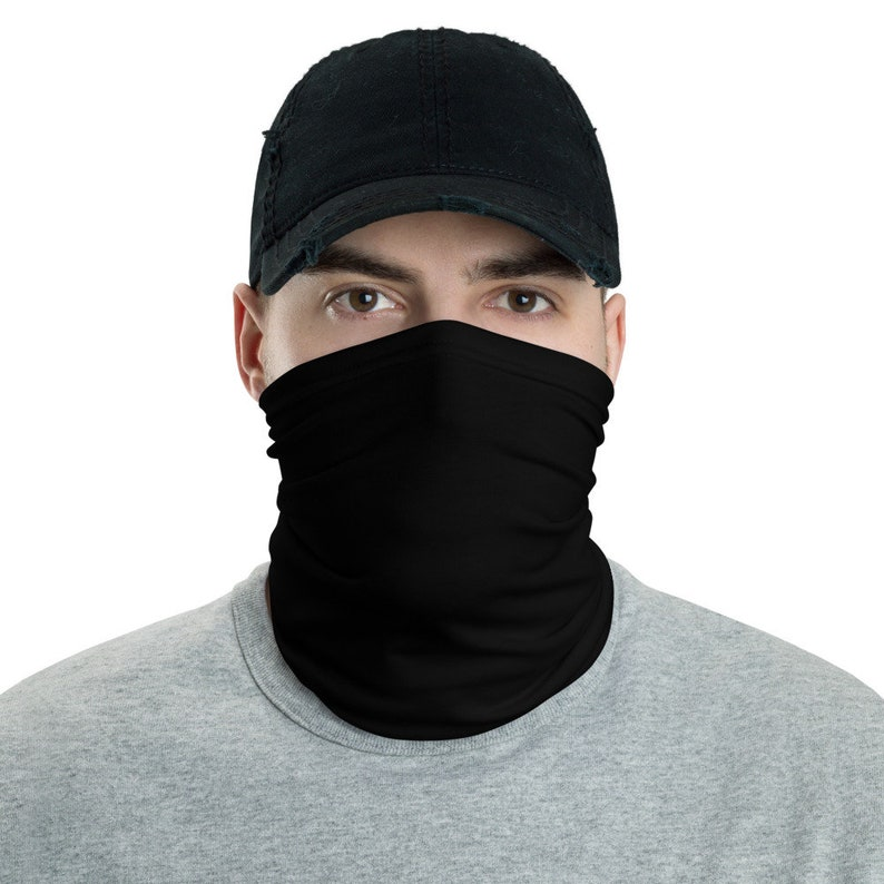 Black Neck Gaiter / Breathable Washable and Reusable / Simple image 0